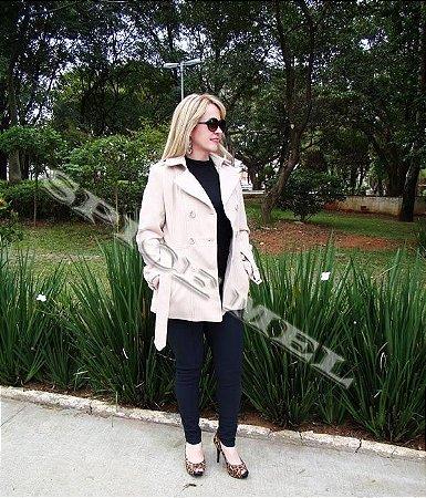 Trench Coat  / Casaco / Sobretudo em Lã Batida Safira Fashion no Atacado
