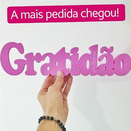 Plaquinha Gratidão