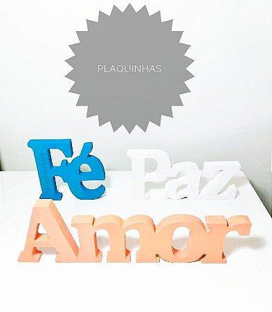 Plaquinha Paz