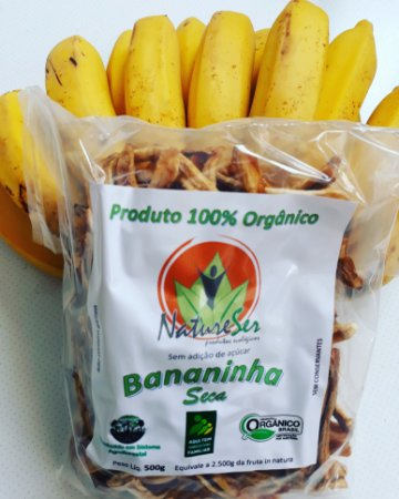 Banana Prata Desidratada Seca