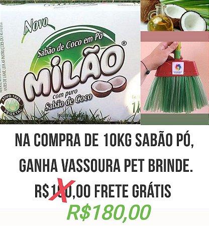 Na compra de 10kg Sabão em pó, Vassou PET brinde.