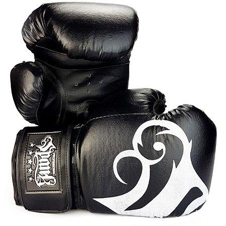 Luva de Boxe/Muay Thai Preto - Spank
