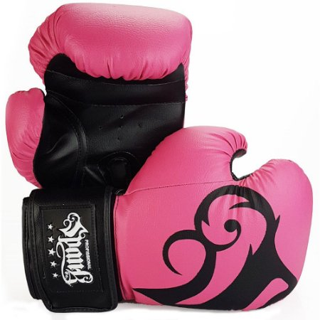 Luva de Boxe/Muay Thai Rosa - Spank