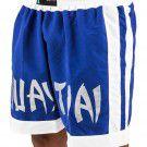 Short Muay Thai Azul com branco - Torah