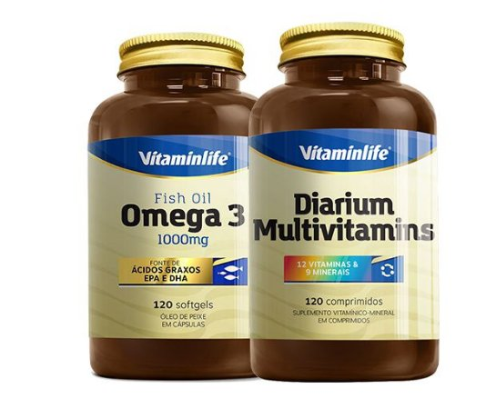Kit Saúde Diarium 120 comp + Ômega 3 120softgels - Vitaminlife