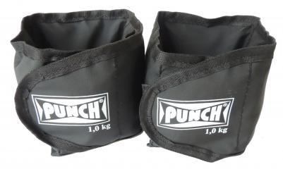 Par de tornozeleira com peso preta - Punch