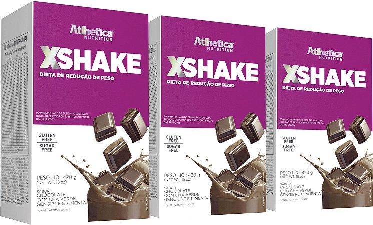 Combo com 03 caixas de XShake 420g - Atlhetica