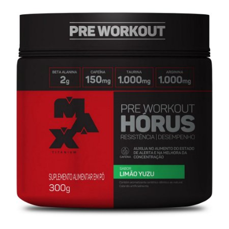 Pre Workout Horus 300g - Maxtitanium