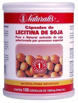 Lecitina de Soja 100cáps 1000mg Naturalis