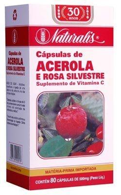 Acerola e Rosa Silvestre 80caps 500mg Naturalis
