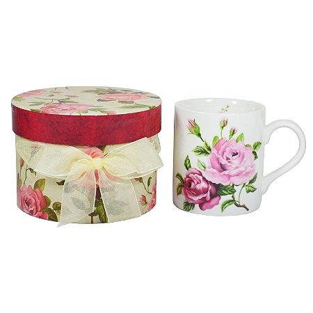 Caneca de Porcelana Rosas