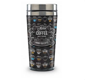 Copo Térmico Menu Coffe