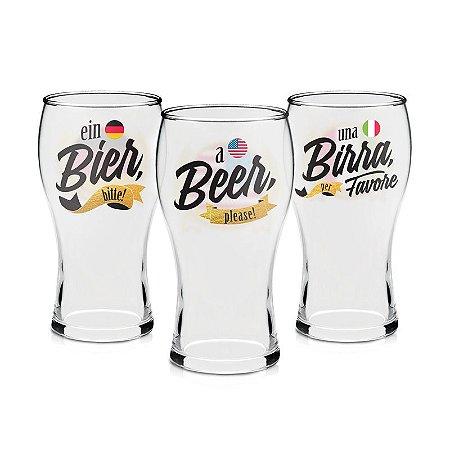 Conjunto de Copos - Cerveja pelo Mundo