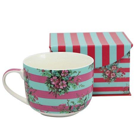 Caneca Bowl para Sopa Floral