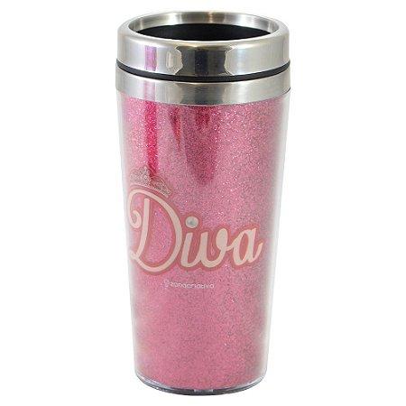 Copo Térmico Glitter Diva