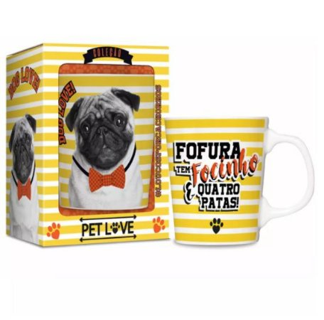 Caneca Pet Love - Pug