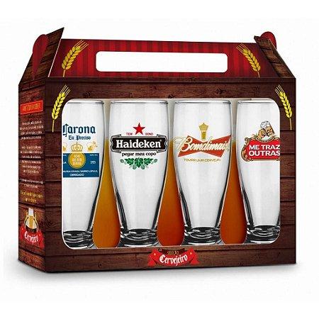 Conjunto Copos Cervejas Internacionais - Brasfoot