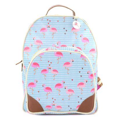 Mochila Couro Flamingo