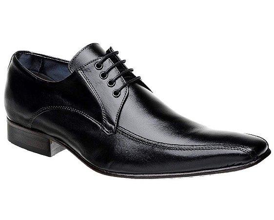 Sapato Social Bigioni Masculino com Cadarço Couro Preto