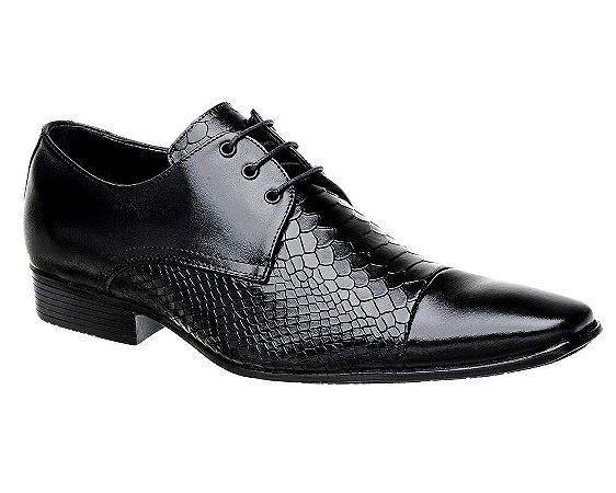 Sapato Social Bigioni Masculino Preto com Cadarço