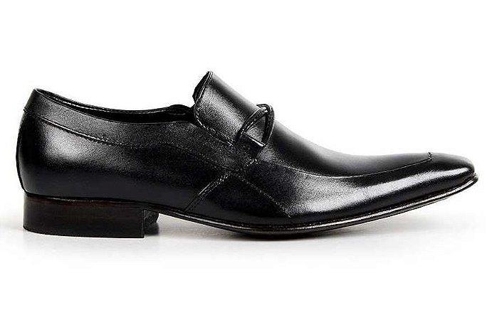 Sapato Masculino Bigioni Estilo Italiano Couro Preto ou Marrom