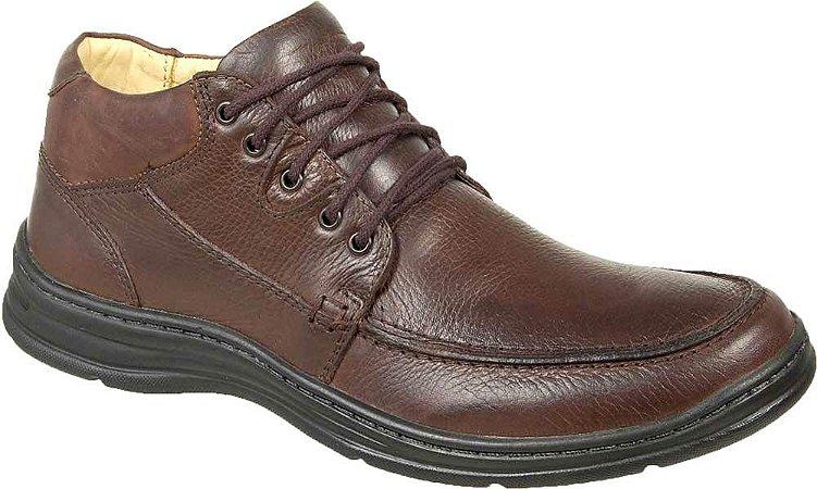 Sapato Abotinado Confortável BM Brasil Couro Marrom