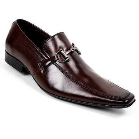 Sapato Social Bigioni Masculino Couro Marrom