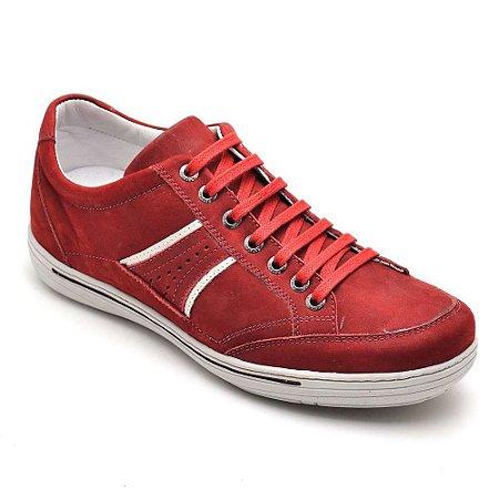 Tênis Casual Masculino Vermelho Confortável