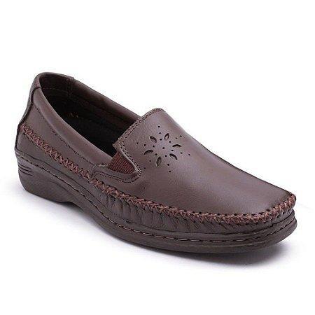 Sapato Comfort Pizaflex Feminino Marrom