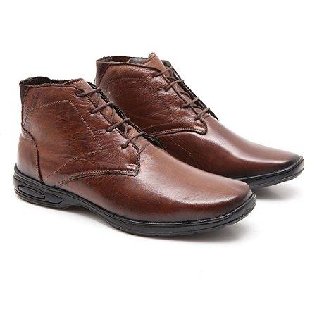Sapato Abotinado Torani Couro Comfort Café