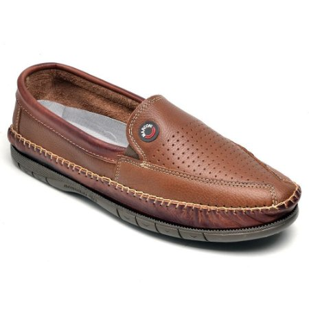 Sapatilha Casual Masculina Ranster Couro Whisky