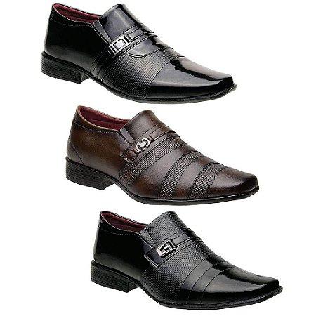 Kit 3 Pares Sapatos Sociais Masculinos Torani Lecce
