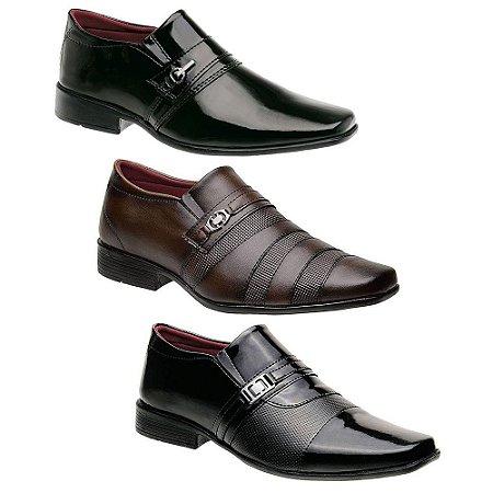 Kit 3 Pares Sapatos Sociais Masculinos Torani Lioni