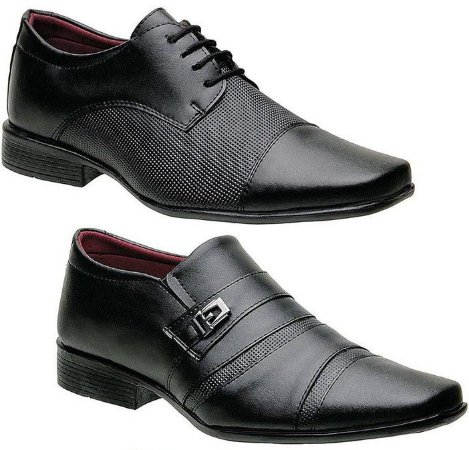 Kit 2 Pares Sapatos Torani Masculinos Torino