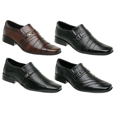 Kit 4 Pares Sapatos Sociais Couro Torani Tolentino