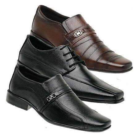 Kit 3 Sapatos Masculinos Couro Torani Roveto