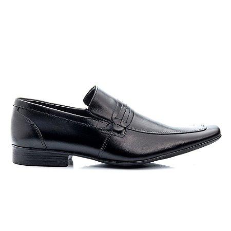 Sapato Social Preto Masculino Bigioni Sola de Borracha