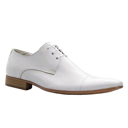 Sapato Social Branco Masculino Cadarço