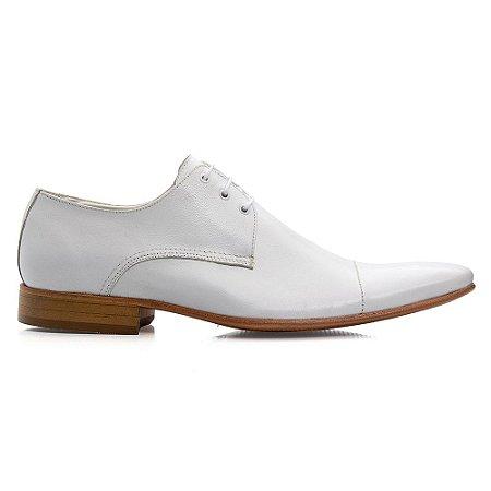 Sapato Social Torani Branco Masculino Cadarço