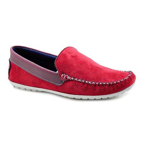 Sapato Mocassim Masculino Torani Vermelho