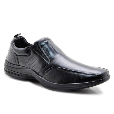 Sapato Social Pipper Comfort Masculino Couro Carneiro Preto