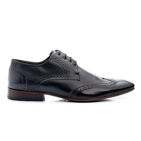 Sapato Masculino Bigioni Oxford Preto Cadarço
