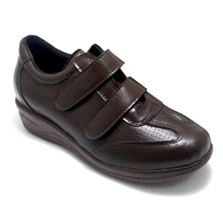 Sapato Feminino Ortopédico Comfort Marrom