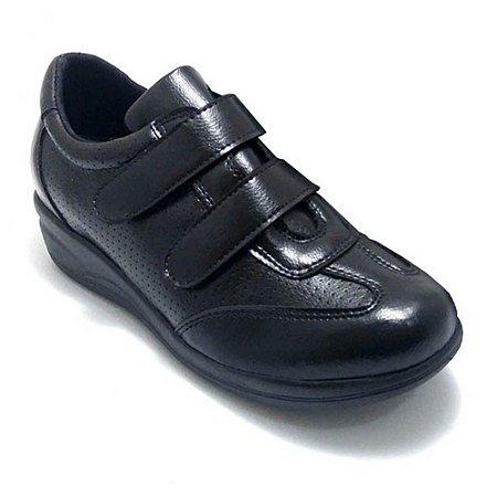 Sapato Feminino Ortopédico Comfort Preto