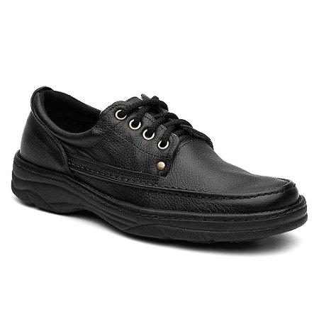 Sapato Masculino Comfort Cadarço Preto