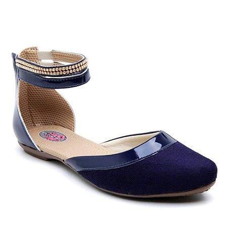 Sandália Rasteira Feminina Azul