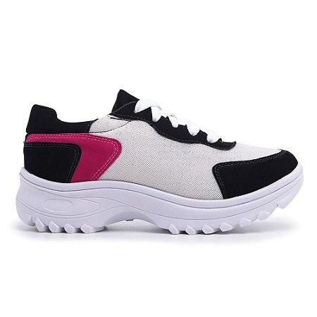 Tênis Chunky Sneaker Feminino Branco Torani
