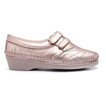 Sapato Feminino Comfort Torani Dourado