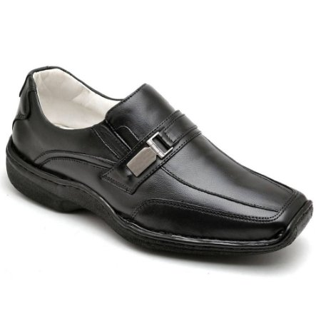 Sapato Masculino  Confortável Atenas  Couro Preto Torani