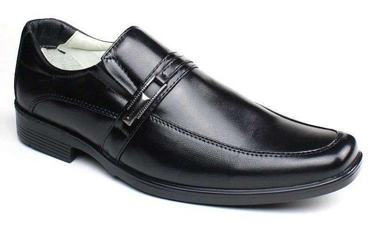 Sapato Social Masculino Ranster Confortável Pele de Carneiro Preto